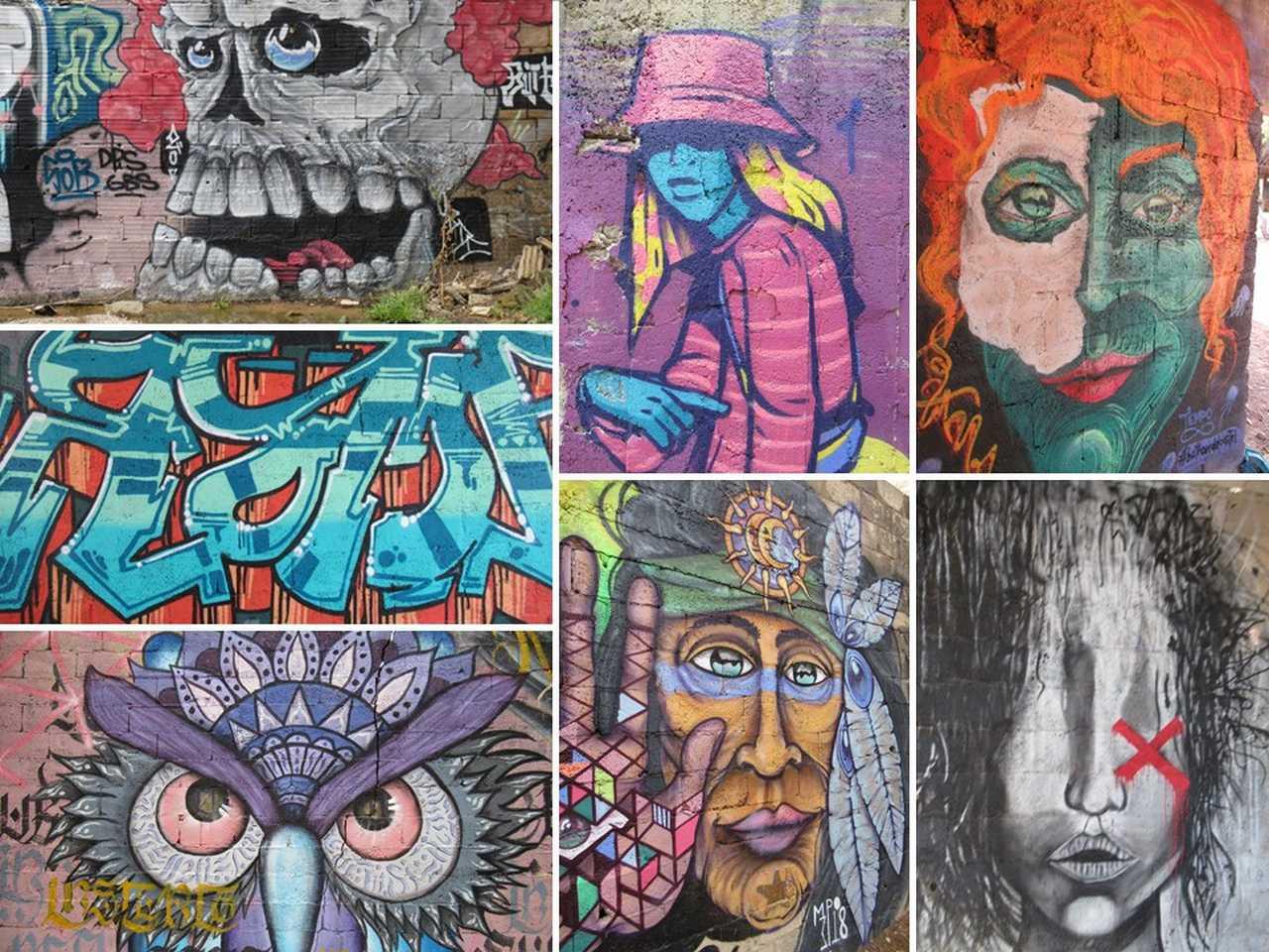 Amazing graffiti covers every surface.