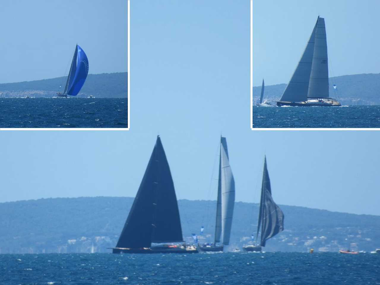 The super yachts entertain.